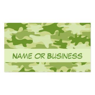 Nombre oscuro del camuflaje de Camo del verde verd Tarjetas Personales