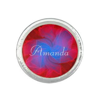 Nombre personalizado bonito anillo con foto