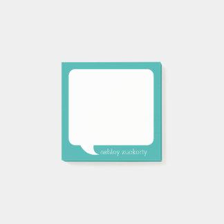 Nombre personalizado burbuja de la charla - PUEDE Notas Post-it®