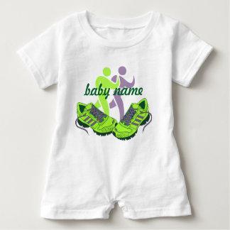 Nombre personalizado corredor body para bebé