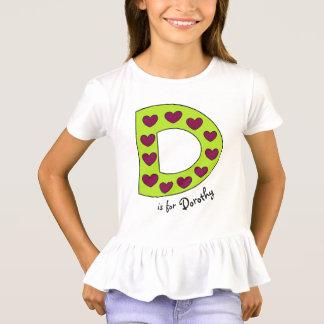 Nombre personalizado D lindo y colorido de los Camiseta