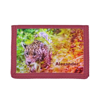 Nombre personalizado guepardo enrrollado fresco