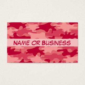 Nombre rojo del camuflaje de Camo personalizado Tarjeta De Negocios