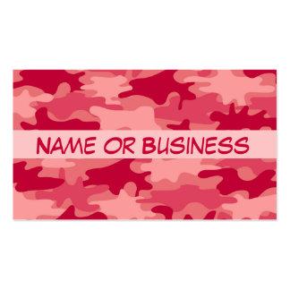 Nombre rojo del camuflaje de Camo personalizado Tarjeta De Visita
