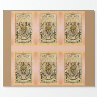 Nombre santo del papel de embalaje de Maria