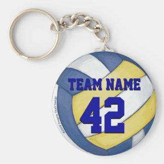 Nombre y número del equipo del voleibol llavero redondo tipo chapa