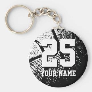 Nombre y número personalizados del llavero el |