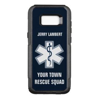 Nombre y pelotón del paramédico de EMT EL ccsme Funda Otterbox Commuter Para Samsung Galaxy S8+