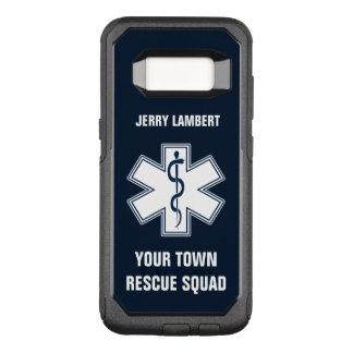 Nombre y pelotón del paramédico de EMT EL ccsme Funda Otterbox Commuter Para Samsung Galaxy S8