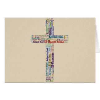 Nombres de la cruz de dios tarjeta de felicitación