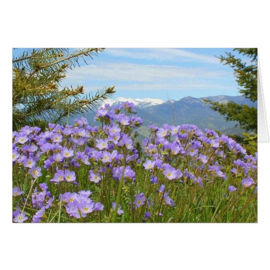 Nomeolvides alpina tarjeta de felicitación