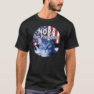 Nora para el presidente #4 camiseta