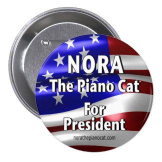 Nora para presidente Button #2 Chapa Redonda De 7 Cm
