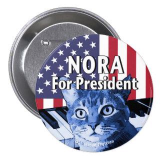 Nora para presidente Button In Blue #4 Chapa Redonda De 7 Cm