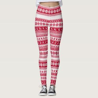 Nordic - navidad escandinavo leggings