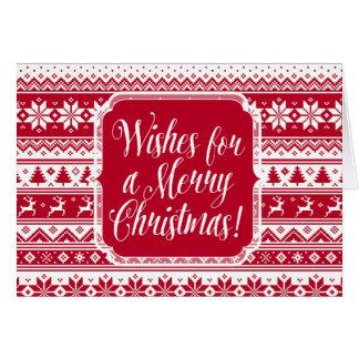 Nordic - tarjeta de Navidad escandinava