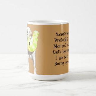 Normal es la taza de café aburrida