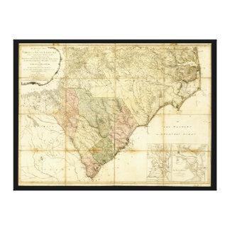 Norte y mapa de Carolina del Sur (1775) Impresión En Lienzo