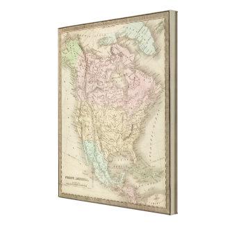 Norteamérica 45 impresión en lienzo estirada