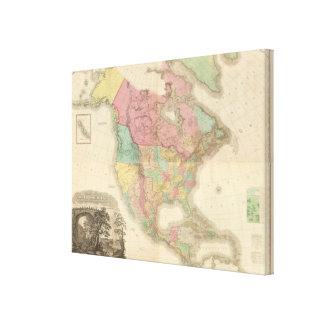 Norteamérica compuesto 2 impresiones en lona estiradas