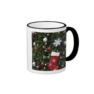 Norteamérica. Decoraciones del navidad en árbol. 5 Tazas