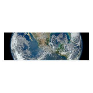 Norteamérica del satélite que está en órbita bajo plantilla de tarjeta de visita