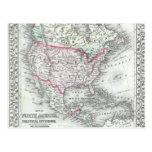 Norteamérica y el mapa de la antigüedad de Estados Postal