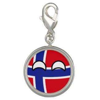 Noruega Geeky que tiende divertida Countryball Dije
