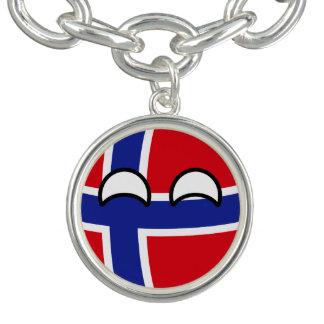 Noruega Geeky que tiende divertida Countryball Pulseras Con Dijer
