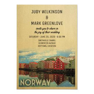 Noruego de la invitación del boda de Noruega