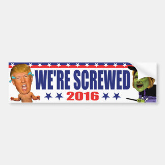 Nos atornillan 2016 - triunfo anti Hillary Clinton Pegatina Para Coche