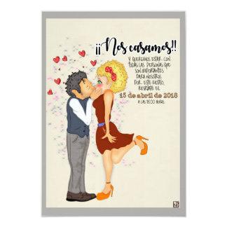 Nos casamos invitación 8,9 x 12,7 cm