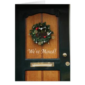 Nos hemos movido - nueva tarjeta de Navidad de la