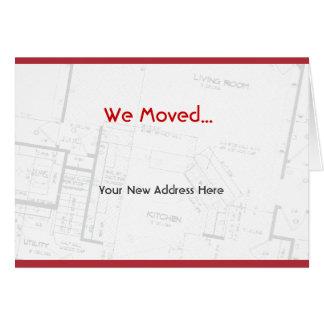 Nos movimos, invitación móvil tarjeta de felicitación