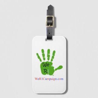 Nosotros etiqueta verde del bulto de mano R1
