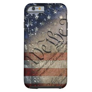 Nosotros la bandera americana del vintage de la funda de iPhone 6 tough