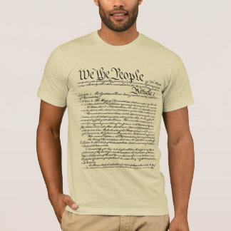 Nosotros la camiseta de la constitución de la