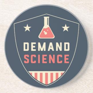 Nosotros la ciencia de la demanda de la gente en apoyavasos