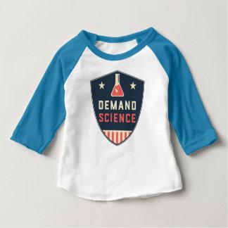 Nosotros la ciencia de la demanda de la gente en camiseta de bebé