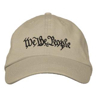 Nosotros la gente gorra de béisbol bordada