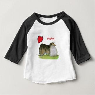 nosotros perros pastor de Shetland del luv de Tony Camiseta De Bebé
