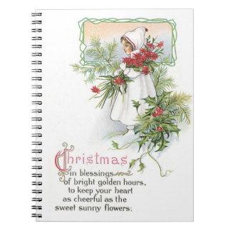 Nostalgia de los días de fiesta del navidad del cuadernos