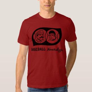 Nostalgia del béisbol camiseta