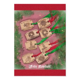 Nostálgico de Navidad de Navidad del encanto Invitación 12,7 X 17,8 Cm