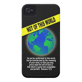 Not of this World - verso cristiano de la biblia d iPhone 4 Fundas