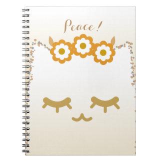 Nota #2 del gato de la flor cuaderno
