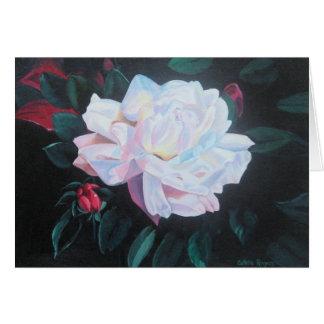 Nota color de rosa iluminada por la luna tarjeta pequeña