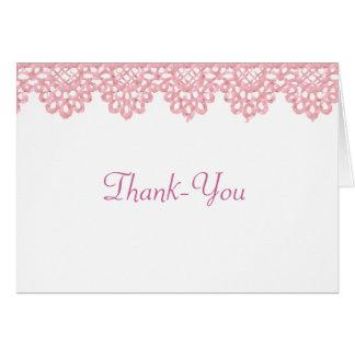 Nota de agradecimiento del cordón tarjeta pequeña