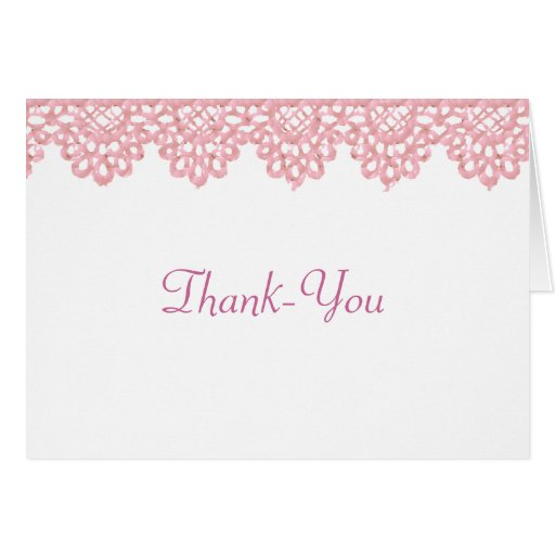 Nota de agradecimiento del cordón tarjetas