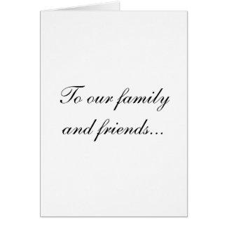 Nota de agradecimiento simple del boda tarjeta de felicitación